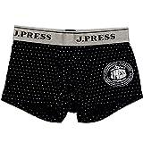(ジェイプレス)J.PRESS メンズ 前開き ニット ボクサー パンツ 紳士 ドット柄 (Mサイズ,ネイビー)