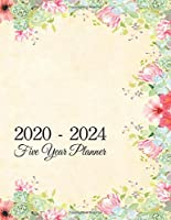 2020 - 2024 Five Year Planner. 60 Month Calendar Monthly Planner Notebook Journal. 5 Year Appointment Book Agenda Schedule Organizer.