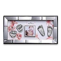 Moms Present 赤ちゃんの手と足 SILVER FRAMEで3DプリントDIYキットをキャスティング(S-5-櫻色舞うころ) [並行輸入品]