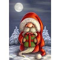 Dirance 5D クリスマステーマ DIY ダイヤモンド絵画セット 12x10 サンタクロース フルドリル刺繍 ラインストーン ペインティング クロスステッチキット ウォールステッカー ウォールデコ アートクラフト リビングルーム装飾 Regular Dirance