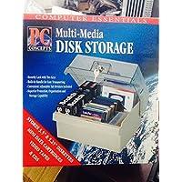 """マルチメディアデータディスクストレージボックスケースホルダー–Stores up to 100ディスク。–5.25""""テープ、3.5インチ、Miniデータカートリッジ、ビデオ、CDを保持"""