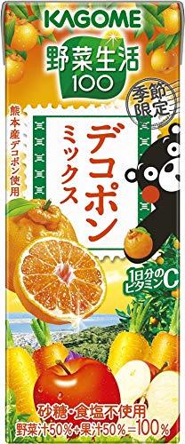 野菜生活100 デコポンミックス 195ml×24本 紙パック