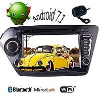 KIA K2 2011年から2012年車のための2018年の最新のダブル2ディンユニバーサルカーステレオのAndroid 7.1車GPSナビクアッドコアAutoradio Bluetooth対応のWiFiヘッドユニットは、(日本の地図が含まれていない)MirrorlinkオプションのDAB 3G / 4G OBD2 +ナビマップ+バックアップカメラをサポート
