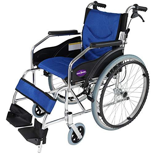 自走用車椅子 チャップススリム ラバンバ ブルー 軽量 折り...
