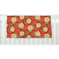 KESS InHouse Holly Helgeson Cammelia Red Yellow Fleece Baby Blanket 40 x 30 [並行輸入品]
