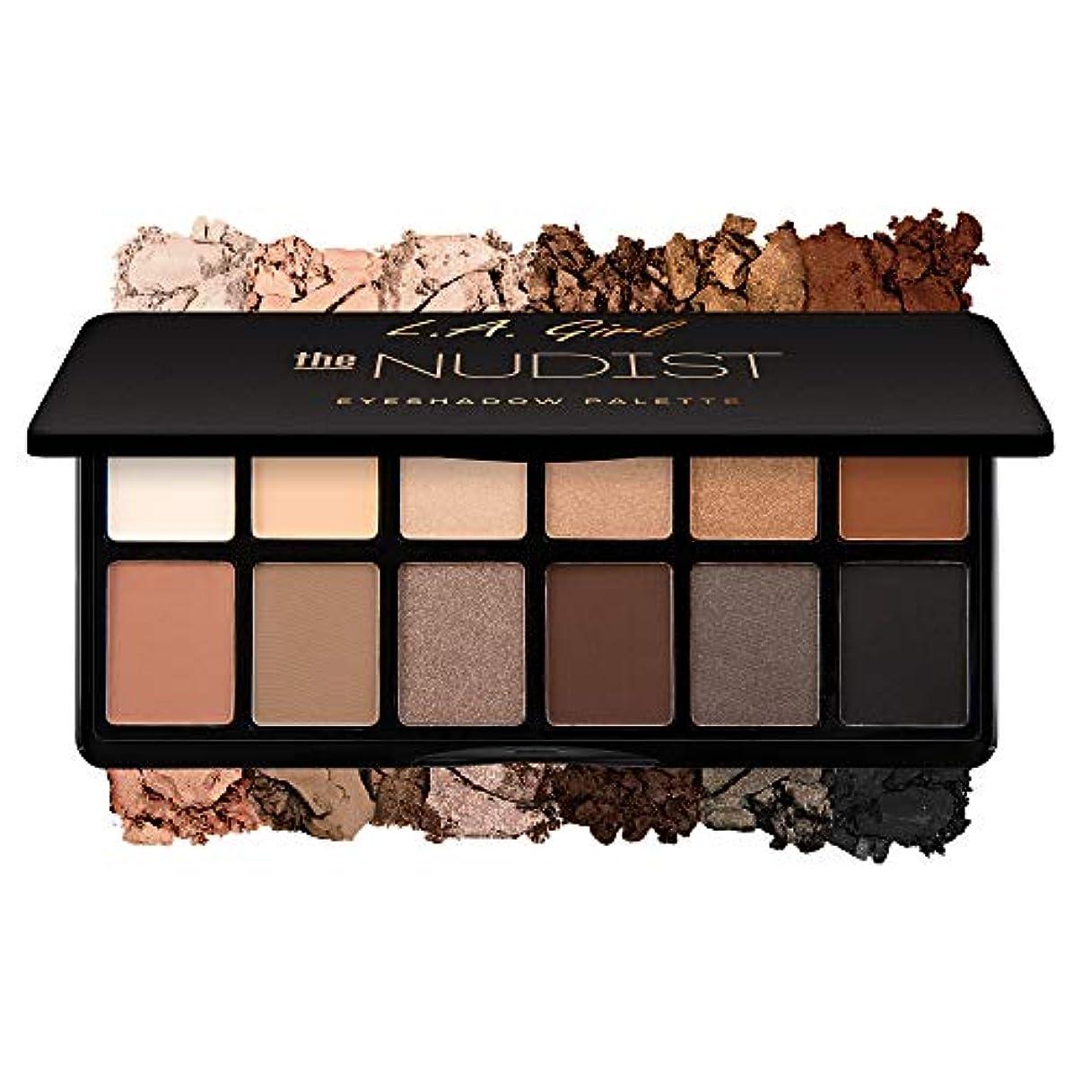 ムスタチオ大通り率直なL.A. GIRL Fanatic Eyeshadow Palette - The Nudist (並行輸入品)