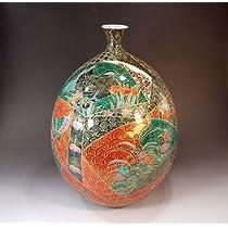 有田焼・伊万里焼|花瓶陶器・花器・壺|贈答品|高級ギフト|記念品|贈り物|金彩花鳥絵・藤井錦彩