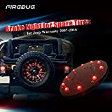 Firebug スペアタイヤライト ジープ ラングラー用 ブレーキライト スペアタイヤ用 アクセサリー 最新型 LED ブレーキランプ 10連 IP67防水 12V/24V兼用 ジープ第3ブレーキライトLED スペアタイヤ用 ジープライトアクセサリー ジープラングラーJK レッド ライト 視認性抜群 追突事故防止 1年間の保証