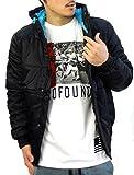 (サーベニーマイルス)SIR BENNI MILES 中綿ジャケット メンズ リップストップナイロン B系ファッション  ストリート系 11-07119 (M, ブラック)