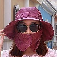 Women's Hat Ms Cap Sun Hat Outdoor Cover Beach Hat Sunscreen Hat Sun Hat Outdoor Mask Cap (Color : Purple, Size : -)