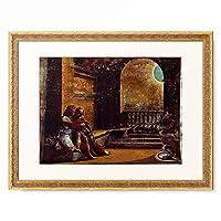 ラファエロ・サンティ Raffaello Santi (Raffaello Sanzio) 「Abimelech eavesdropping on Isaac and Rebecca」 額装アート作品