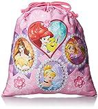 [ディズニーバッグ] DISNEY BAG Disney PRINCESS プリンセス 巾着(大) D1367 ピンク (ピンク)
