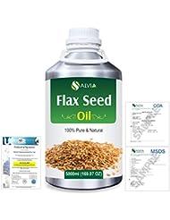 Flax Seed (Linum usitatissimum) 100% Natural Pure Undiluted Uncut Carrier Oil 5000ml/169 fl.oz.