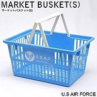 アメリカンデザインが映えるショッピングバスケット。マーケットバスケット Sサイズ <U.S.AIR FORCE>