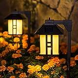 GIGALUMI Solar Powered Path Lights, Solar Garden Lights Outdoor, Landscape Lighting for Lawn/Patio/Yard/Pathway/Walkway/Drive