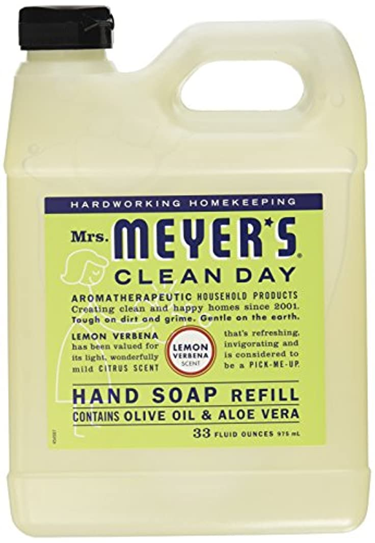 皿発明民間Mrs. Meyers Clean Day, Liquid Hand Soap Refill, Lemon Verbena Scent, 33 fl oz (975 ml)