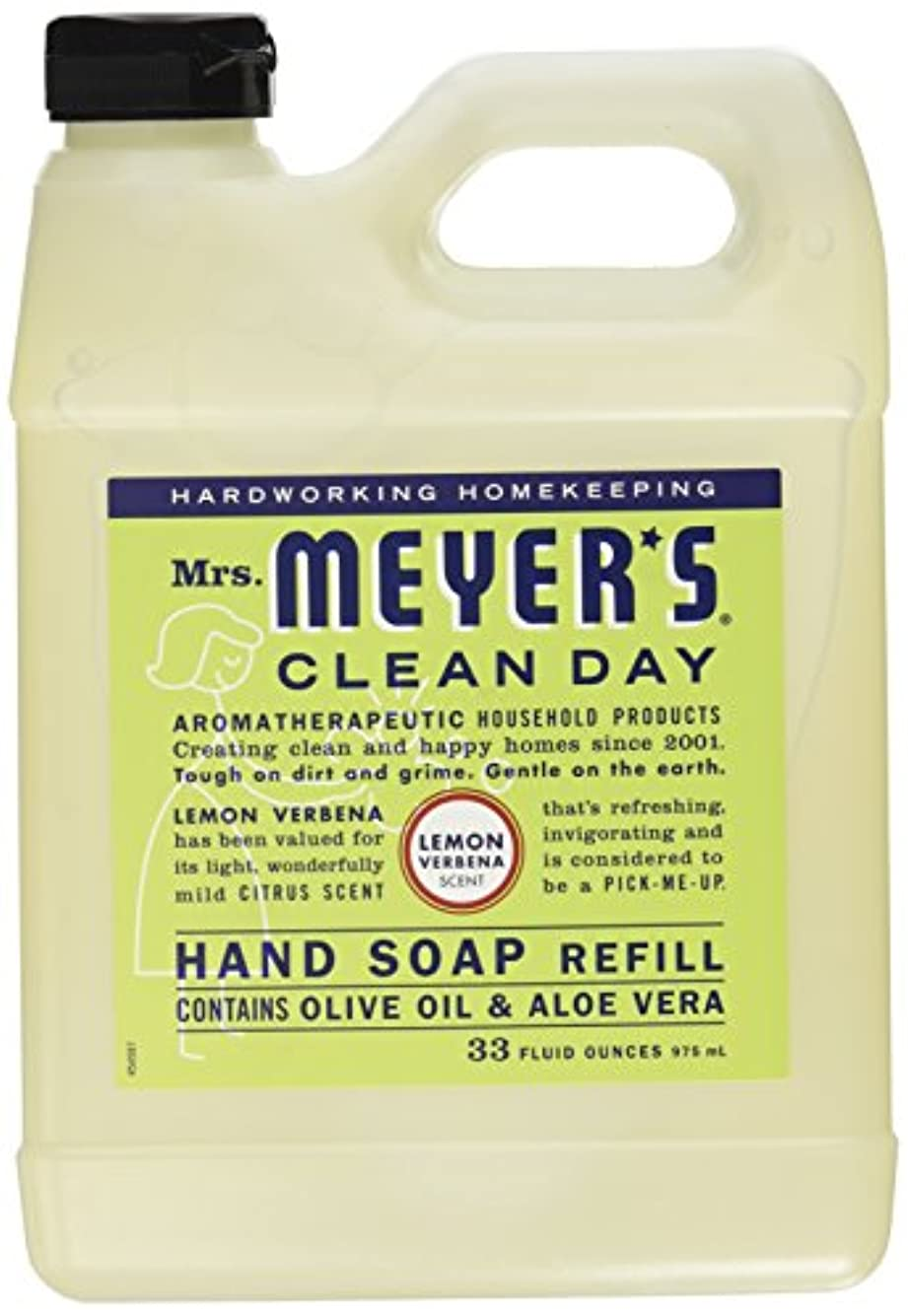 パラメータ永久不健全Mrs. Meyers Clean Day, Liquid Hand Soap Refill, Lemon Verbena Scent, 33 fl oz (975 ml)