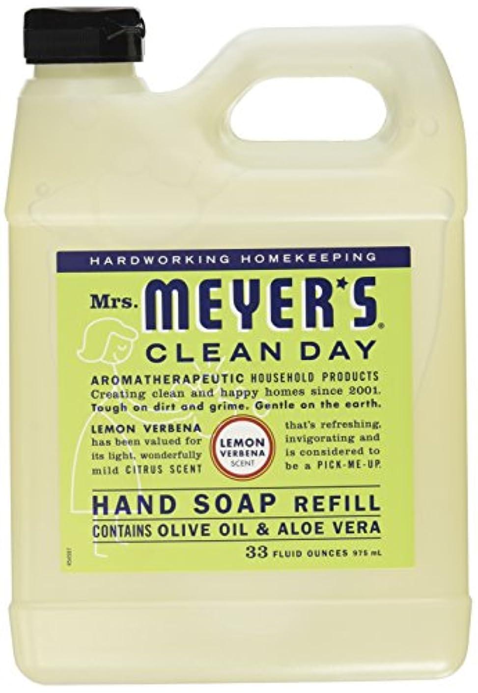 船上アクロバット乗り出すMrs. Meyers Clean Day, Liquid Hand Soap Refill, Lemon Verbena Scent, 33 fl oz (975 ml)