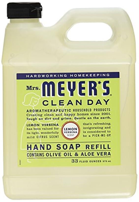 歯車変数物語Mrs. Meyers Clean Day, Liquid Hand Soap Refill, Lemon Verbena Scent, 33 fl oz (975 ml)