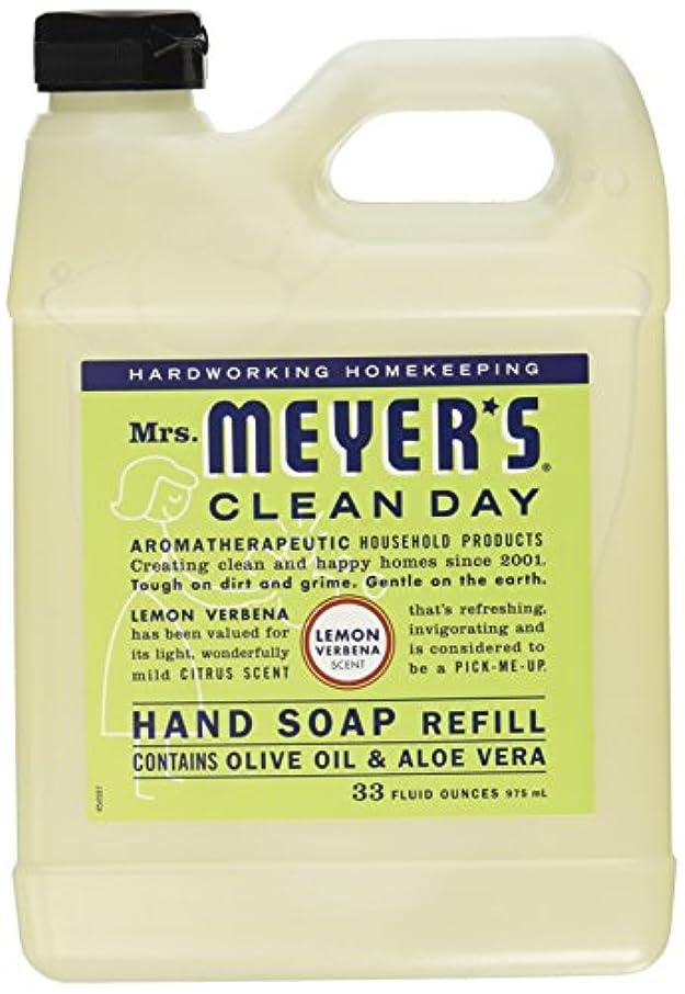 ホバー除外するプレゼンMrs. Meyers Clean Day, Liquid Hand Soap Refill, Lemon Verbena Scent, 33 fl oz (975 ml)