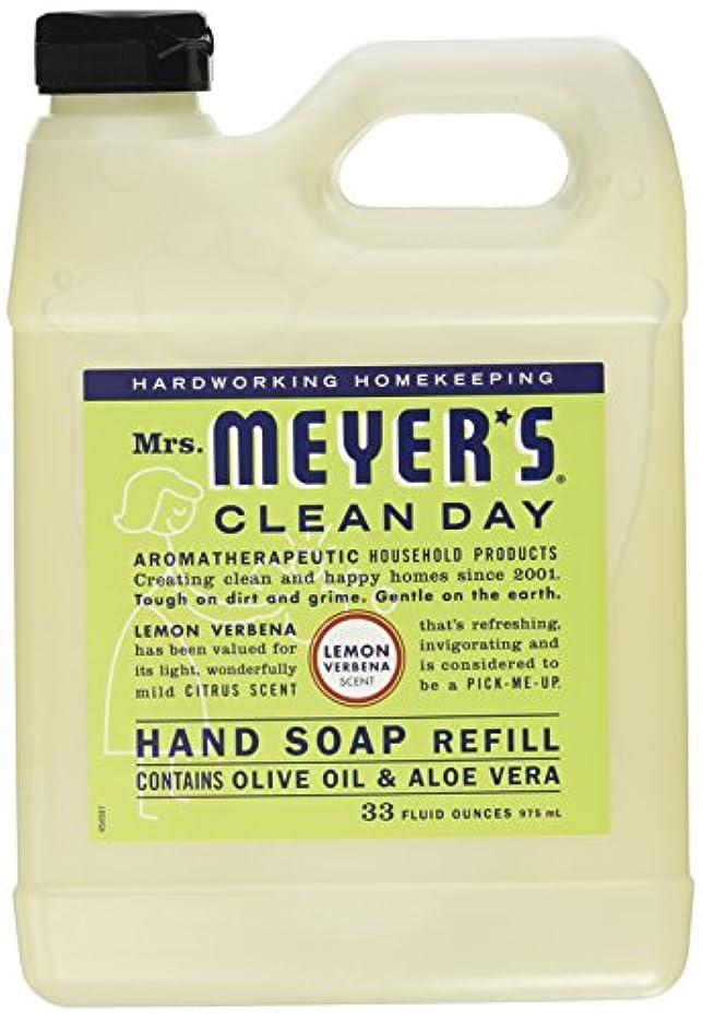 降臨定期的にパーチナシティMrs. Meyers Clean Day, Liquid Hand Soap Refill, Lemon Verbena Scent, 33 fl oz (975 ml)