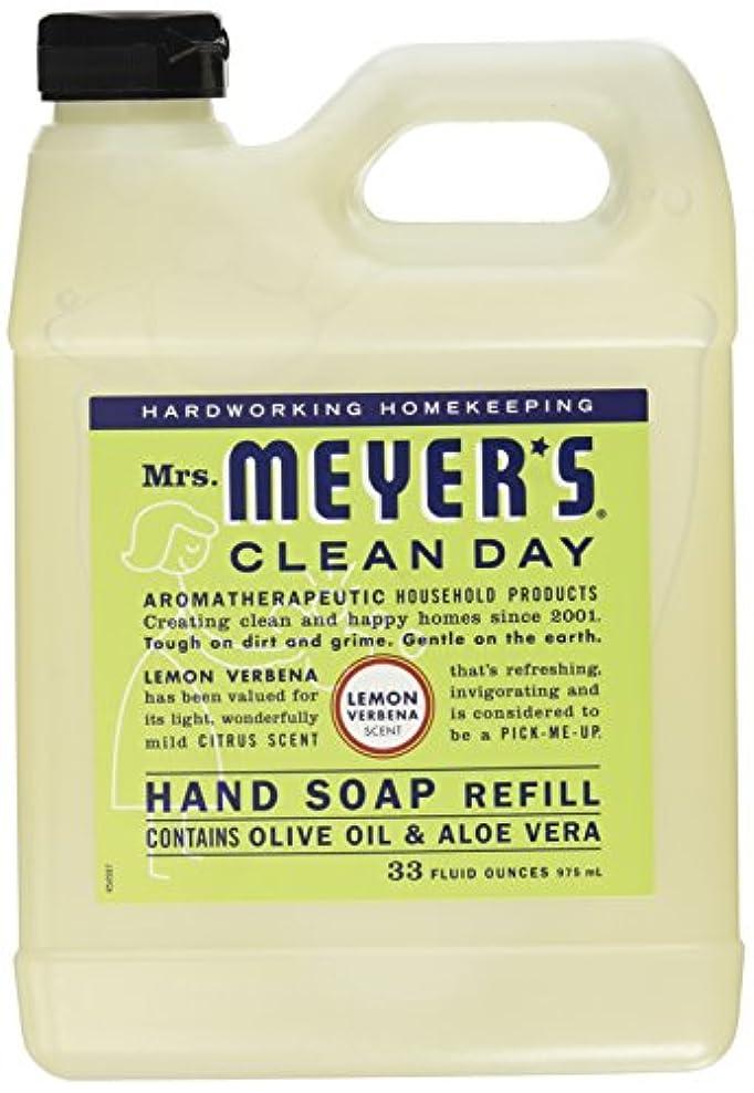 落ち着いてベアリングサークルアカデミックMrs. Meyers Clean Day, Liquid Hand Soap Refill, Lemon Verbena Scent, 33 fl oz (975 ml)