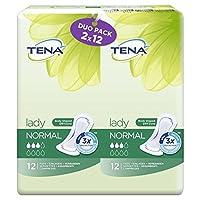 パックあたり2×12通常のテナ婦人タオルデュオ x4 - Tena Lady Towels Duo Normal 2 x 12 per pack (Pack of 4) [並行輸入品]