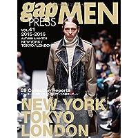 gap PRESS MEN vol.41(2015ー201 NEW YORK,TOKYO,LONDON MEN'S CO (gap PRESS Collections)