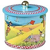 ラ・トリニテーヌ ピクニック バレル缶 ラウンド ティン缶入り 厚焼きパレット&薄焼きガレット 445g