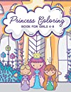 Princess Coloring Book for Girls 4-8: Activity Book with Pretty Princesses and Castles (Includes Mazes & Dot to Dot. Ages 2-4, 3-5)