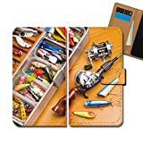 GALAXY S9 SCV38 ケース 手帳型 ハワイ 手帳ケース スマホケース カバー 釣り フィッシング ルアー E0337040101904