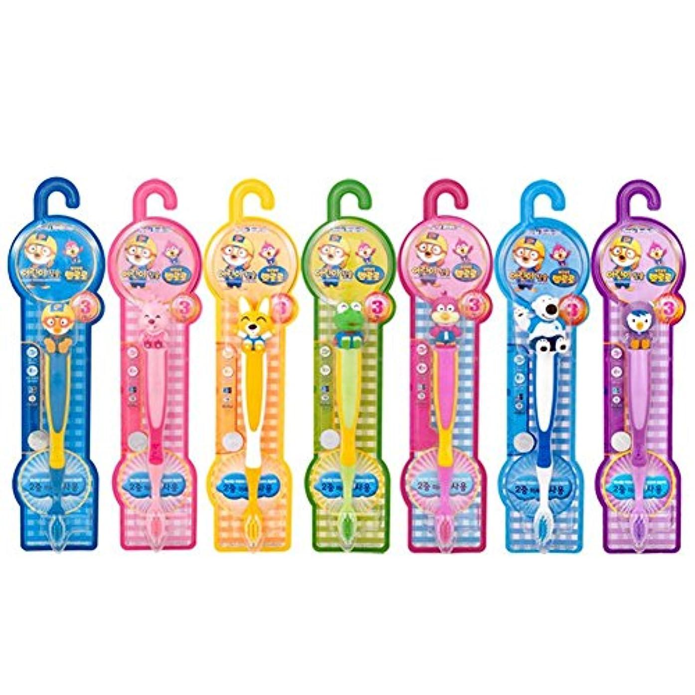運営送信するドループPORORO (ポロロ) 子供の歯ブラシ7(7種)セット