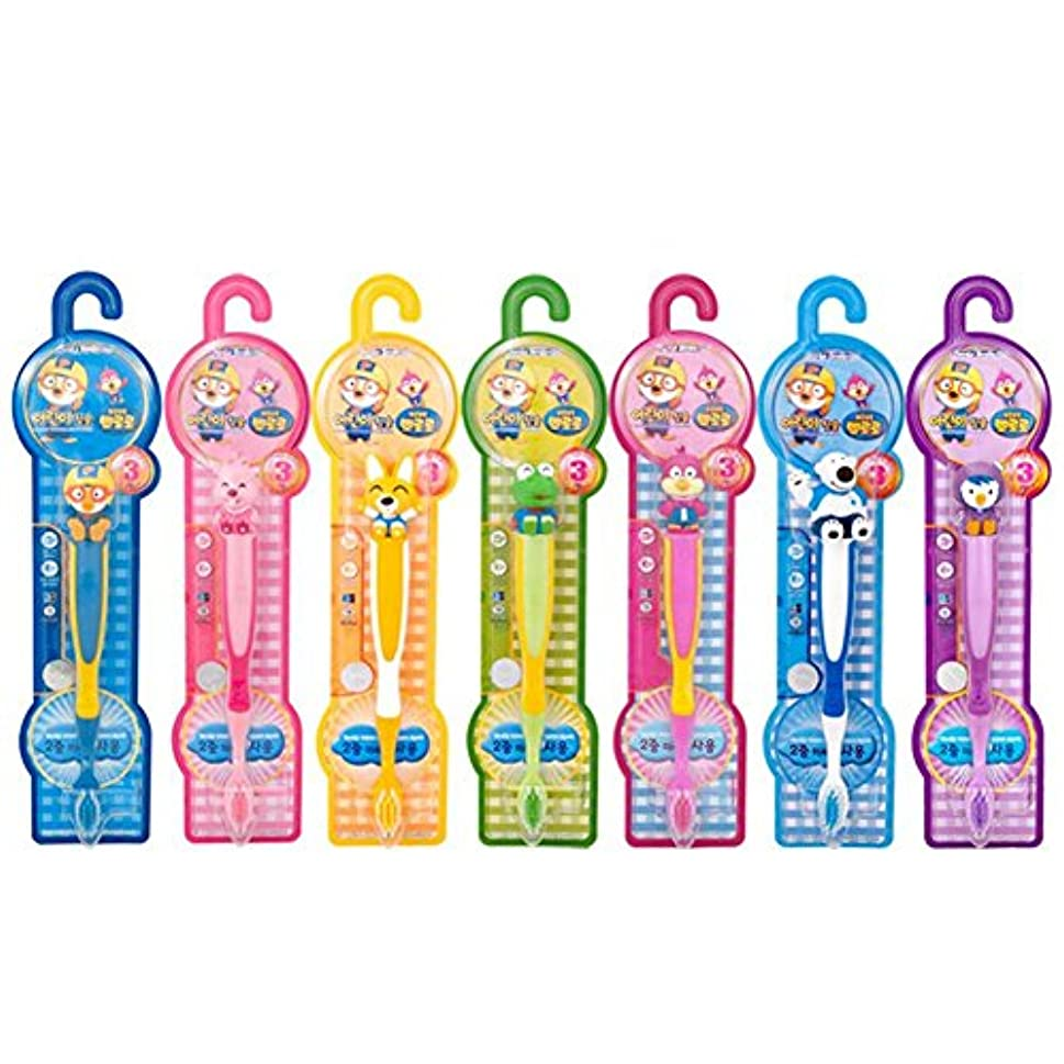 ペアアフリカ人厚さPORORO (ポロロ) 子供の歯ブラシ7(7種)セット