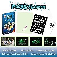 Luani 軽い楽しい描画ボードで描く明るいボード子供用の光るマジックグラフィティペイントボード子供用の描画ボード-多色-230X20X325