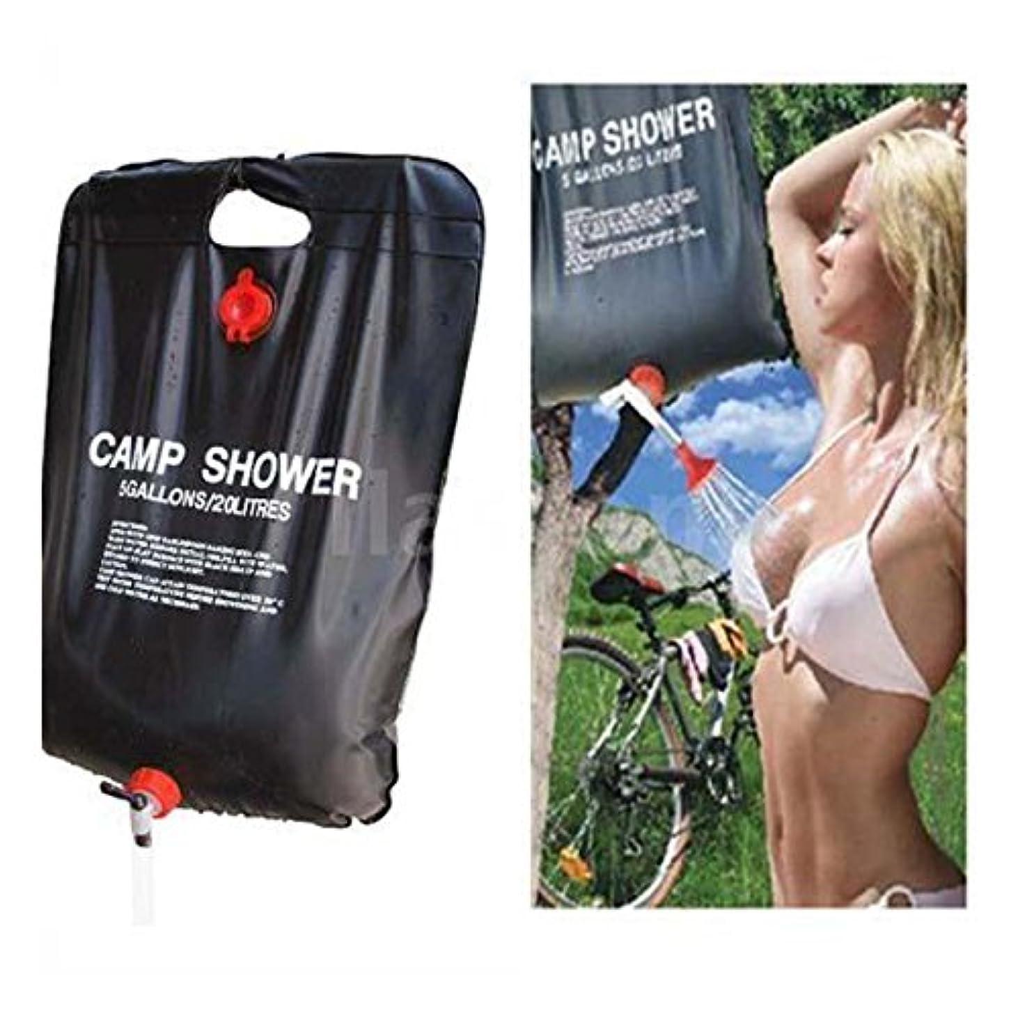 セーブ海港判読できない20L 5ガロン ハイキング 太陽熱キャンプ シャワーバッグ アウトドア シャワー ウォーターバッグ - サイズ: 30 15 1cm