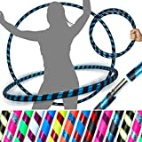 PRO Hula Hoops (Ultra-Grip/Glitter Deco) Weighted Travel Hula Hoop (100cm/39') Hula Hoops for Exercise, Dance & Fitness! (640g) NO Instructions Needed - Same Day Dispatch!
