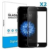 Best iphone 6 Plusのガラススクリーンプロテクター - 【2枚セット】Iphone6 plus/6s plus(黒)用ガラスフィルム 3D曲面炭素繊維ソフトエッジ 高硬度9H 超薄 気泡防止 ディスプレ全面カバー  Digit Whale Review