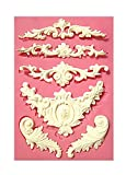 【Ever garden】 彫刻 ヨーロッパ調のデザイン シリコンモールド / アロマハイストーン 石膏 / 手作り 石鹸 / レジン / 樹脂 粘土 / 型 抜き型