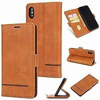 iPhone XS MAX カバー ケース 6.5インチ 手帳型 Ucasecover カードポケット 財布型 マグネット開閉式 携帯カバー レザー アイフォンケース 横開き機能 高級 保護 薄い シンプル ビジネス風 二つ色 素直 レベルなし 大人用 茶色