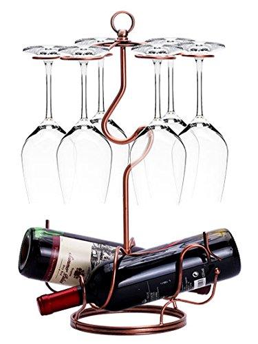 W6 インテリア ワインホルダー ワイングラス ホルダー ラック ワイン シャンパン ボトル スタンド アンティ...