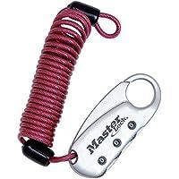 Master Lock 【正規輸入品】 ダイヤル式コイルケーブルロック(暗証番号ロック) 90cm レッド 1559JADRED