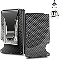Carbon Fiber Minimalist Front Pocket RFID Blocking EDC Credit Card Holder Wallet & Money Clip || Protect Your Identity While reducing The Bulk of Conventional Wallets