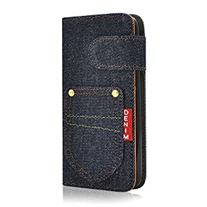 PLATA iPhone 6 iPhone6s ケース 手帳型 デニム スタンド ポーチ カード ホルダー 手帳 カバー iPhone 6 6s アイフォン6 アイフォン6s IP6-5050-A