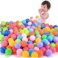 Creazy 200pcsカラフルなボール楽しいボールソフトプラスチック海洋ボールベビーキッドおもちゃSwim Pit Toy df69f-c