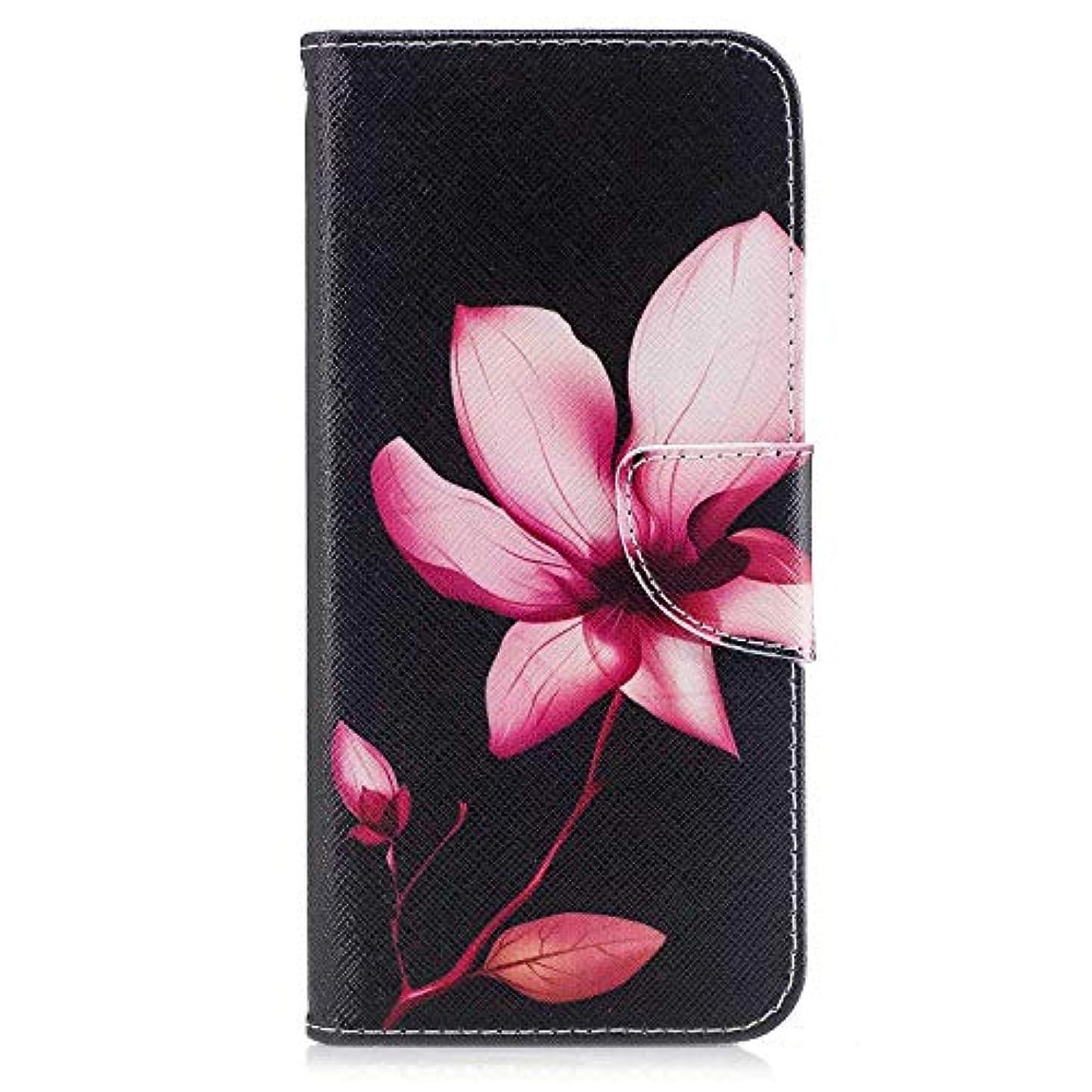 商人仮定盲目OMATENTI Galaxy S8 Plus ケース, ファッション人気 PUレザー 手帳 軽量 電話ケース 耐衝撃性 落下防止 薄型 スマホケースザー 付きスタンド機能, マグネット開閉式 そしてカード収納 Galaxy S8 Plus 用 Case Cover, 花