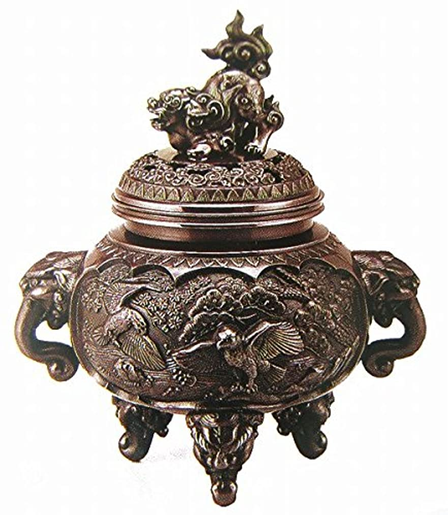 大理石日記世代『新特大花鳥香炉』銅製
