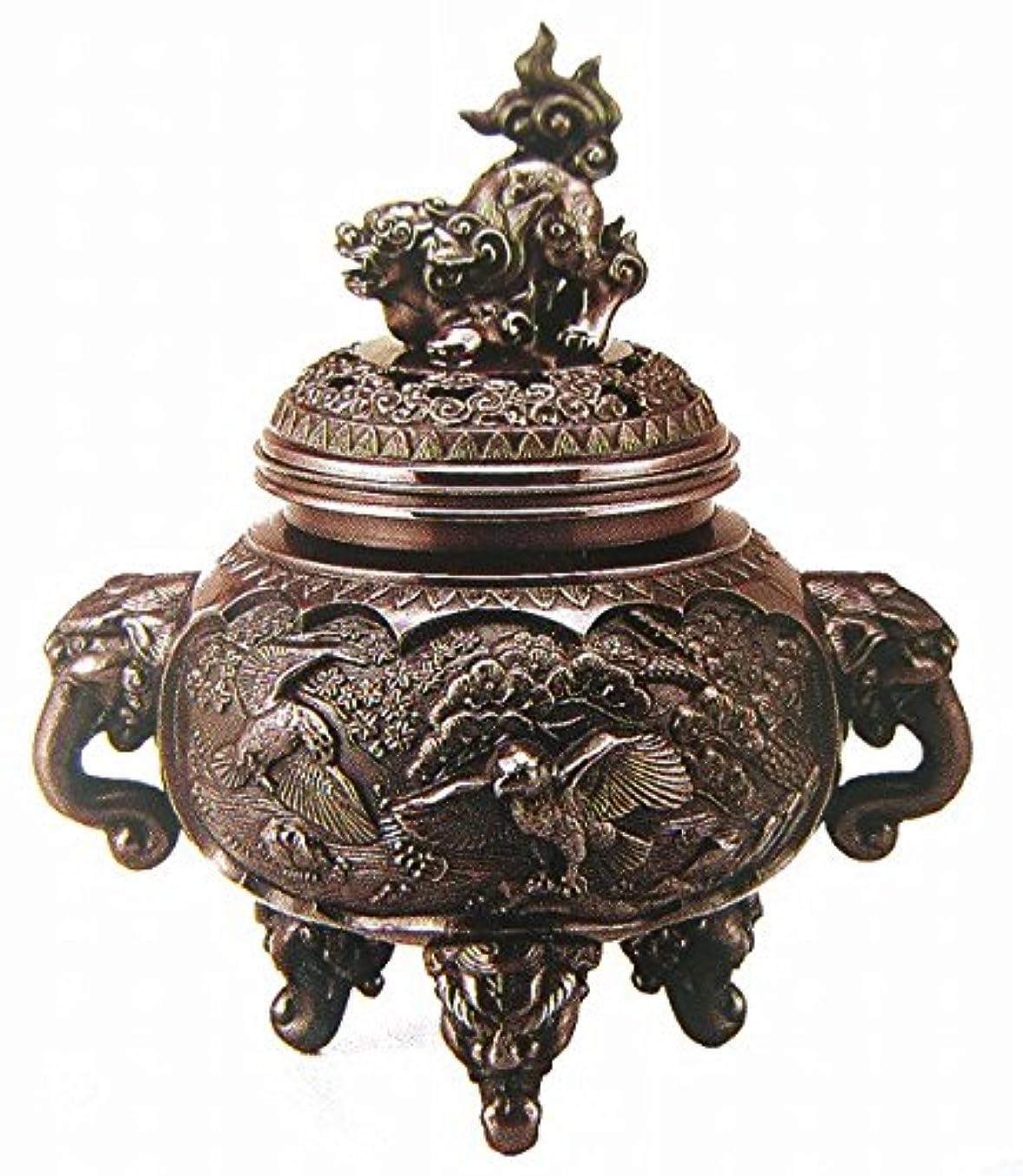 祝福するペパーミント関連付ける『新特大花鳥香炉』銅製