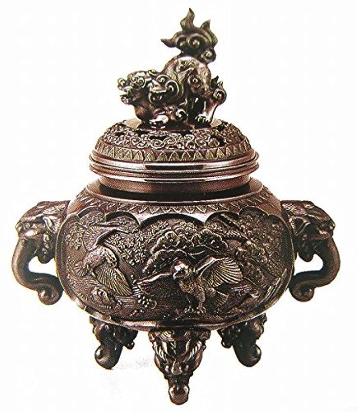 遺棄されたスペクトラムブル『新特大花鳥香炉』銅製