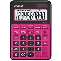 カシオ カラフル電卓 ミニジャストタイプ 10桁 MW-C12A-BR-N ベリーピンク