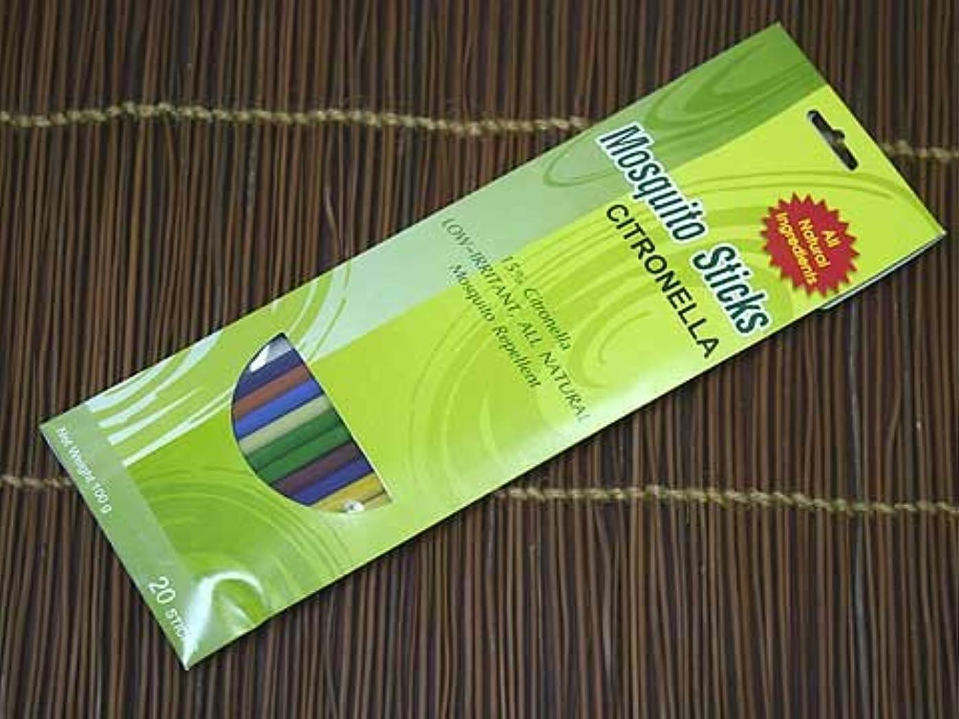 シリンダー瀬戸際橋脚THAI INCENSE シトロネラスティックペーパーパック 夏に最適 タイのオールナチュラルメイド